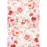 Watercolor Pink Flowers Background Printed Floral Photography Backdrop