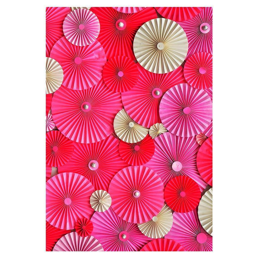 Red Brown Pinwheel Wall For Wedding Photography Backdrop