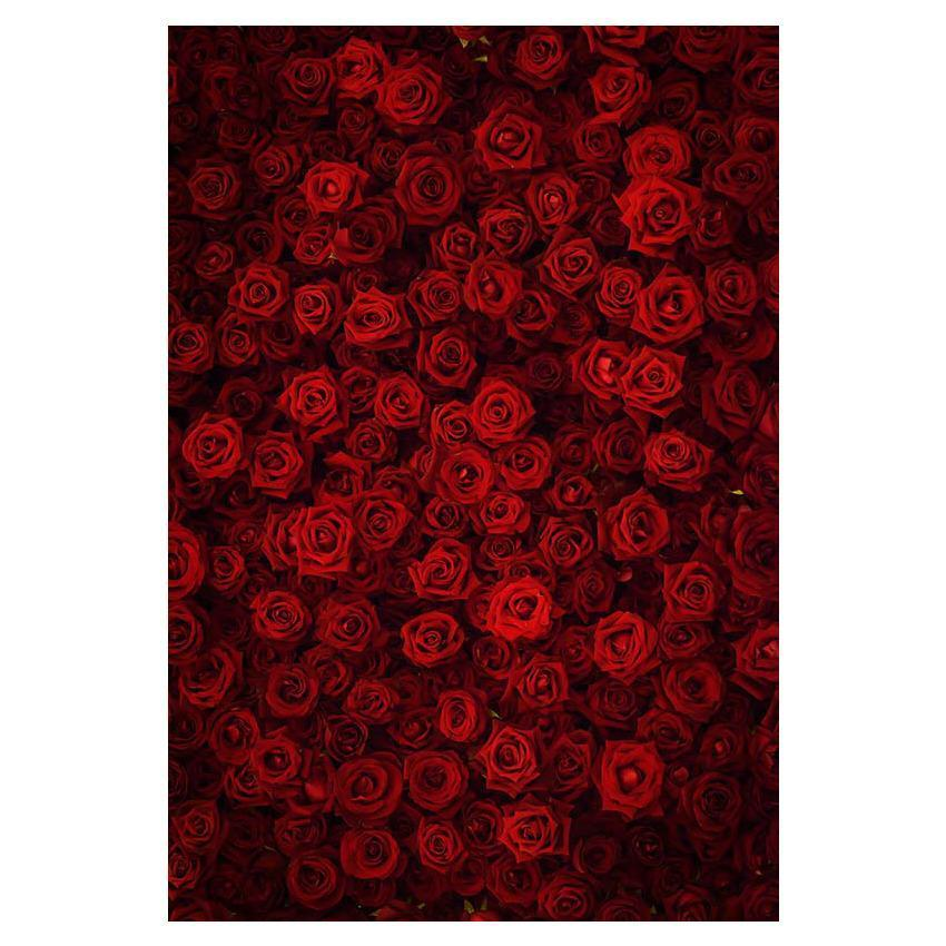 Red Rose Wall For Weeding Backdrop Photography