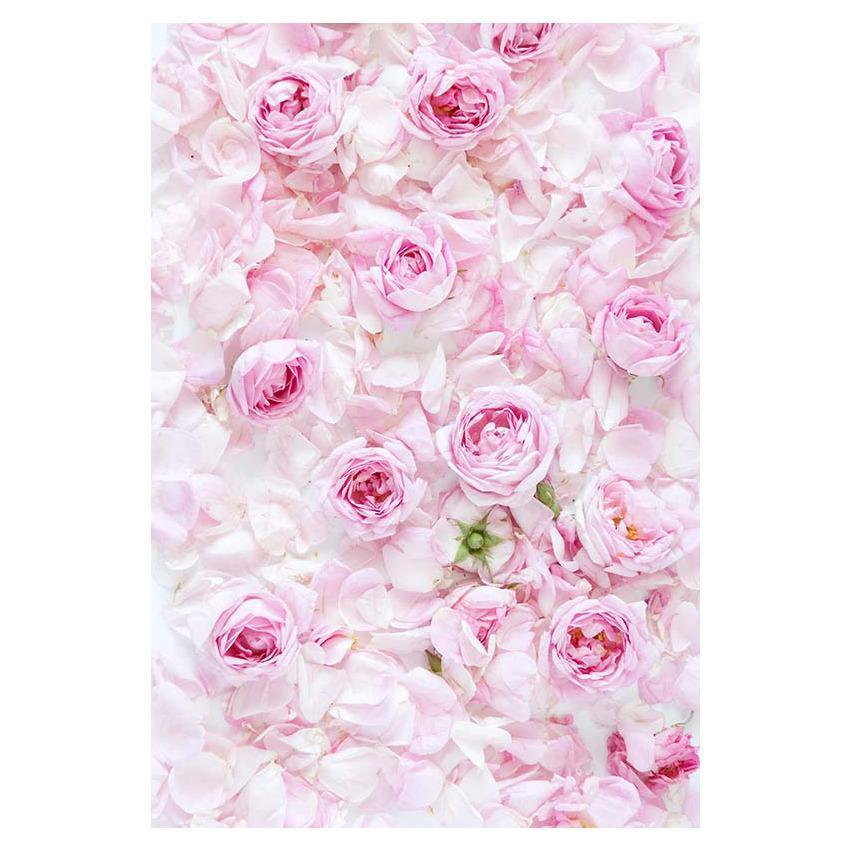 Pink Flowers Wall For Wedding Photography Backdrop