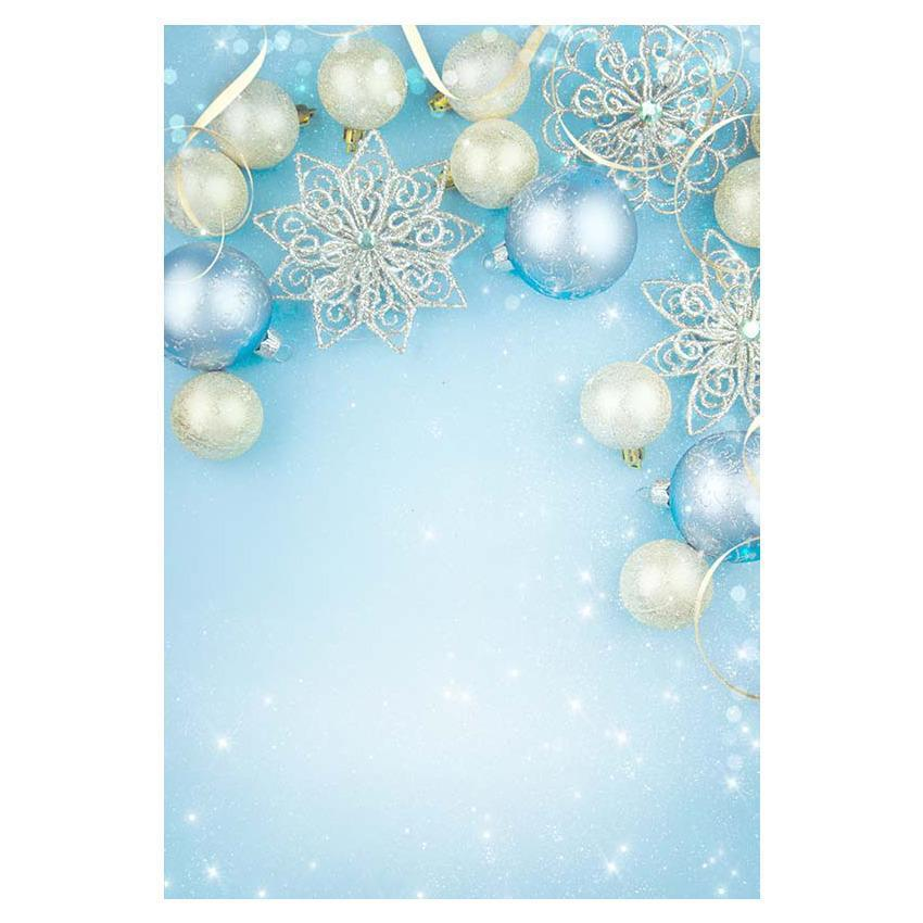 Bokeh Blue Wall With Beautiful Beads Photography Backdrop