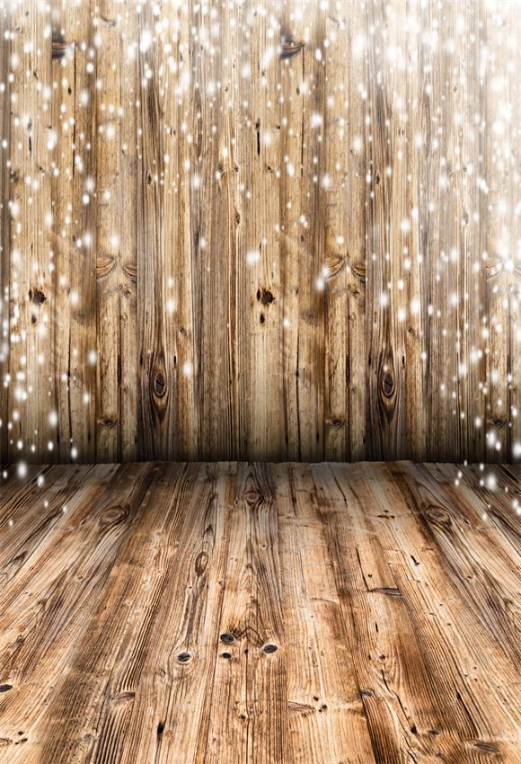 Brown Snowflake Christmas Wooden Backdrops