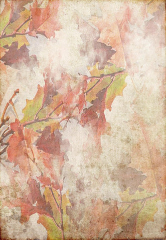 Vintage Maple Autumn Floral Backdrops for Picture