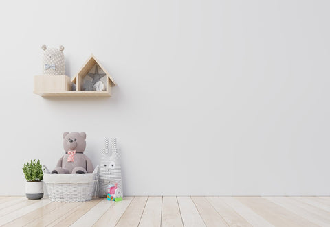 Wood Floor White Wall Bear Birthday Backdrops for Photo