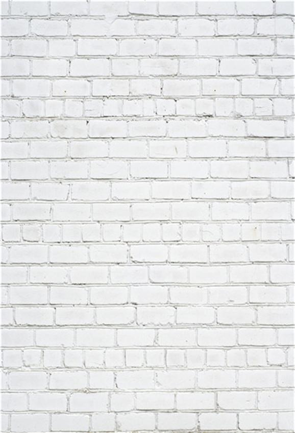 White Brick Wall Portrait Photography Backdrops for Photographer