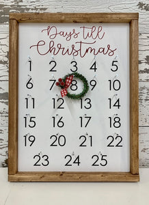 November 16 at 10am | Christmas Countdown Sign Workshop