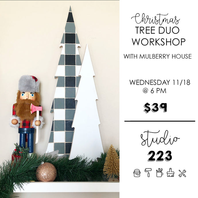 November 18 at 6pm | Christmas Tree Duo Workshop