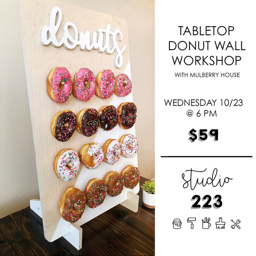October 23 at 6pm | Table Top Donut Wall Workshop