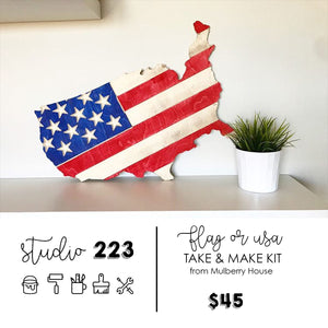 Flag or USA | Take and Make Kit