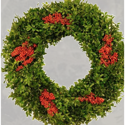 2019 Holiday Original Boxwood Wreaths