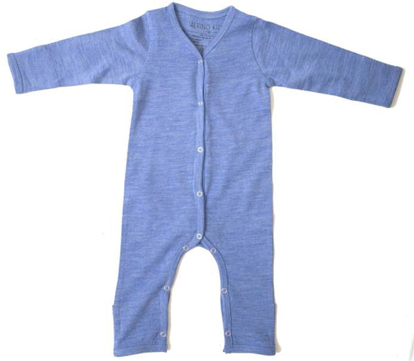 Merino Kids All-In-One Button-Through