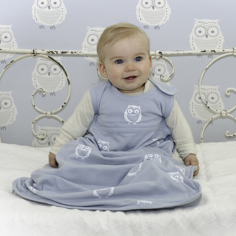 Merino Kids Organic Cotton, Owl Print, Baby Sleep Bag, for Babies 0-2 Years