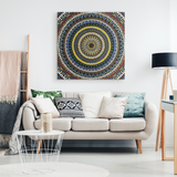 Native Spiral by Homeless Penthouse Canvas Print