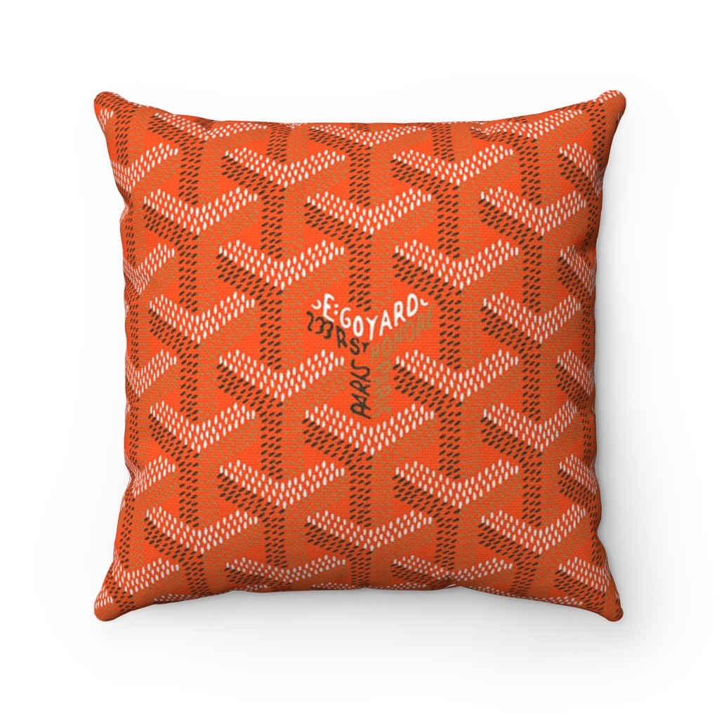Goyart Throw Pillow - Orange