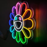 Happy Flower Neon Light