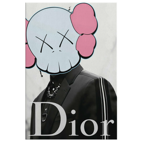Cartoon Dior Canvas Print