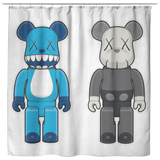 Bear Brick Cartoon Shower Curtain