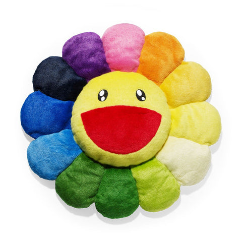 Happy Flower Pillow - Rainbow Color