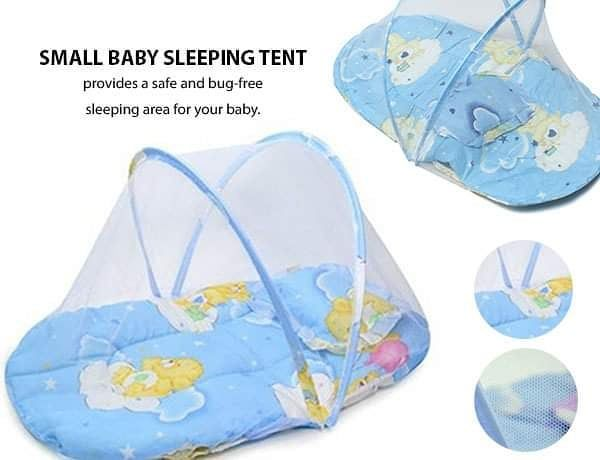 Protect your small baby from insects and give her a good night sleep! Our Small Pink or Blue Baby Sleeping Tent provides a safe and bug-free sleeping area for your baby - https://bit.ly/32dR1Q3
