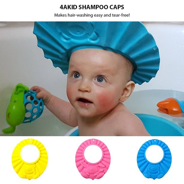 Makes hair-washing easy and tear-free! This 4aKid Shampoo Cap keeps shampoo and water out of baby's or toddler's delicate eyes and ears during bath or shower time.  Get it here >> https://zcu.io/hl6a  https://www.instagram.com/p/B9C0XgIJwhD/