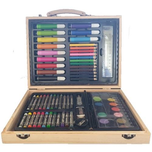 55pc Art Set in Wooden Box- Latest product from 4aKid