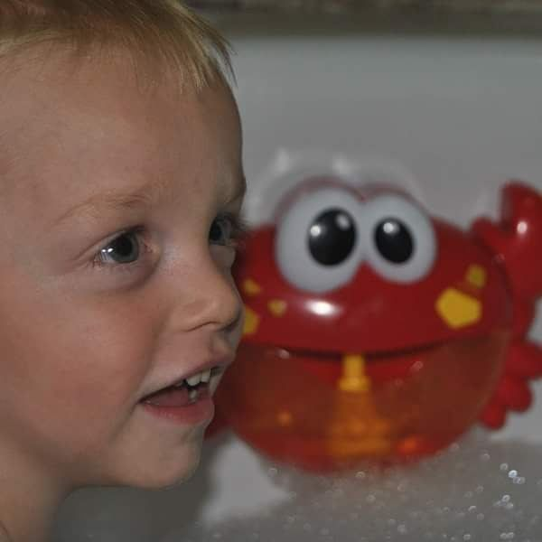 One of our little clients with his Christmas prezzie - the Bubble Crab Bath Toy. Literally the cutest bath-time buddy your kiddo will ever have: https://bit.ly/2MYwh9S  https://www.instagram.com/p/B7AgtlxJBHv/