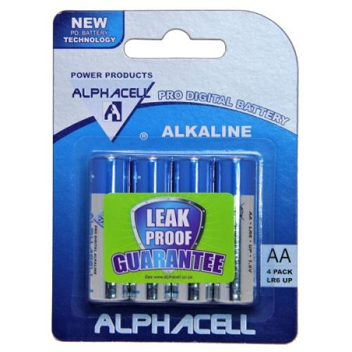 Pack of 6 Alphacell Pro Alkaline AA Battery - 4pc- latest product from 4aKid