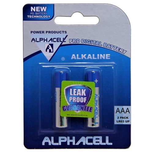 Pack of 6 Alphacell Pro AAA Alkaline Battery - 2pc- latest product from 4aKid