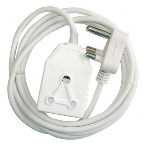Alphacell Extension Cord 16A 5m - White- Latest product from 4aKid