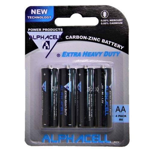 Alphacell Zinc Carbon Battery - Size AA 4pc- Latest product from 4aKid
