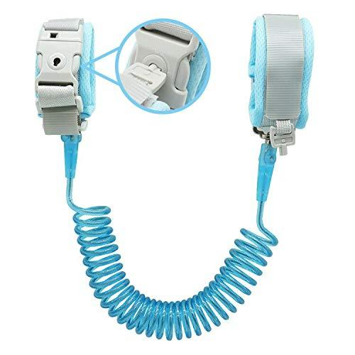 Anti-Lost Wrist Link with Lock - Baby Blue- Latest product from 4aKid