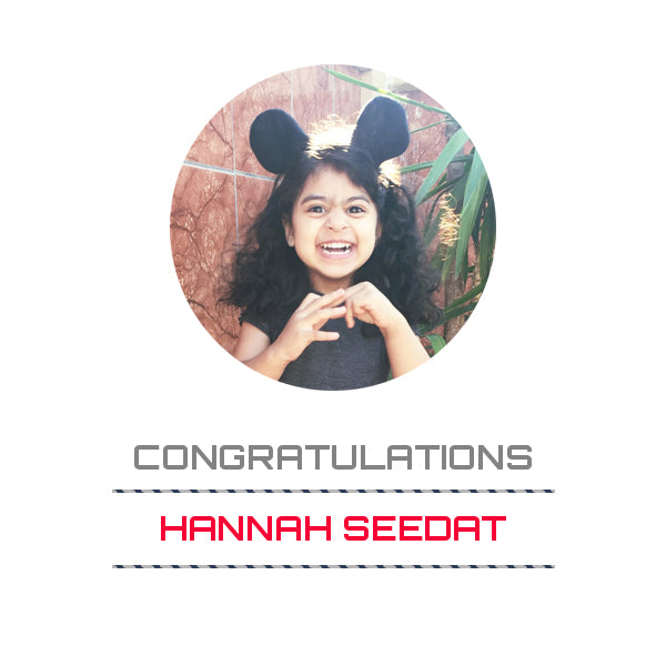 Winner of the February 2017 Face of 4AKid Hannah Seedat