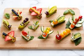 Fruit and Vegetable Bug Snacks