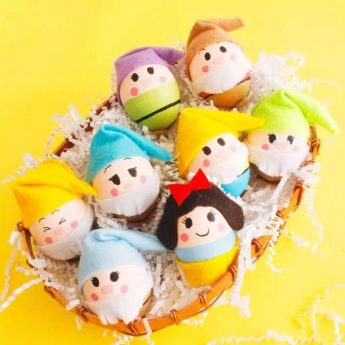 Make Your Easter Seven Times Cuter with Snow White and The Seven Dwarfs Easter Eggs - 4aKid Blog