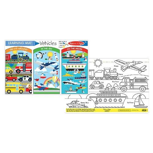 Melissa & Doug Color-A-Mat - Vehicle- Latest product from 4aKid