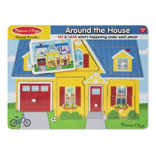 Melissa & Doug Sound Puzzle - Around the House- latest product from 4aKid
