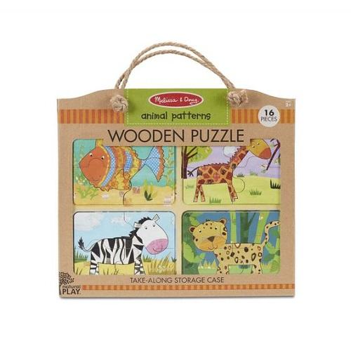Melissa & Doug Natural Play Wooden Puzzle -  Animal Patterns- latest product from 4aKid