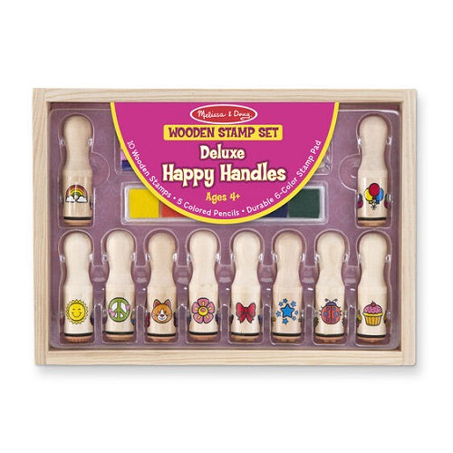 Melissa & Doug Deluxe - Happy Handle Stamp Set- latest product from 4aKid - 4aKid Blog