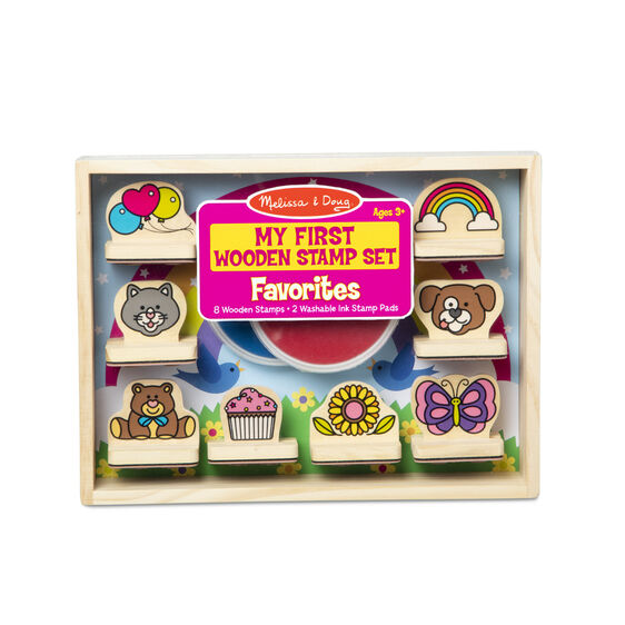 Melissa & Doug My First Wooden Stamp Set - Favourites- Latest product from 4aKid - 4aKid Blog