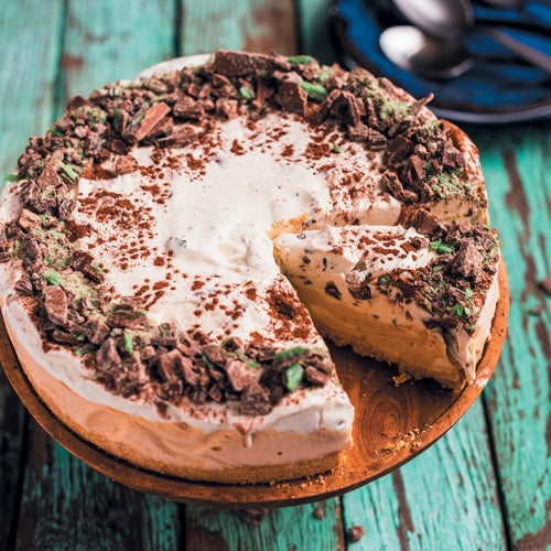 Peppermint Crisp Ice-Cream Cake