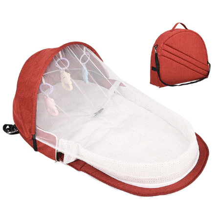 Portable Baby Bed Nest with Mosquito Net - Assorted Colours- latest product from 4aKid