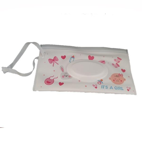 Reusable Wet Wipes Pouch - Pink Hearts & Bows- Latest product from 4aKid