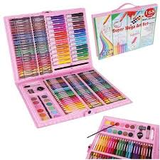 Super Mega Art Set 168pc - Pink- Latest product from 4aKid