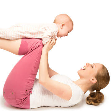Workout with baby to lose the pregnancy weight gain