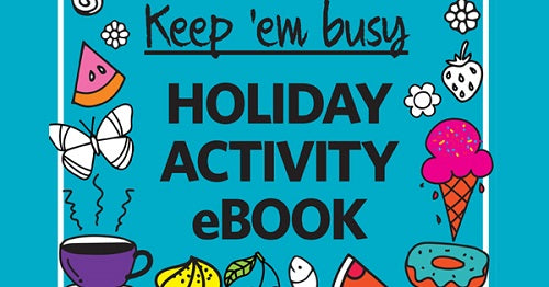 Free kids activity e-book to keep them busy at home