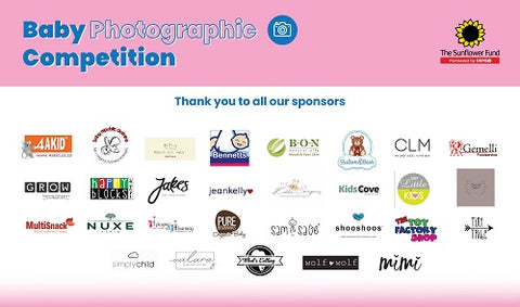 Sponsors of the Sunflower Fund baby and toddler competition
