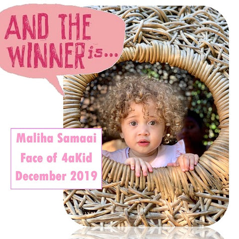 Winner of the Face of 4aKid December 2019