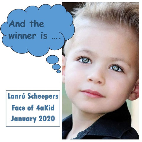 Winner of Face of 4aKid January 2020
