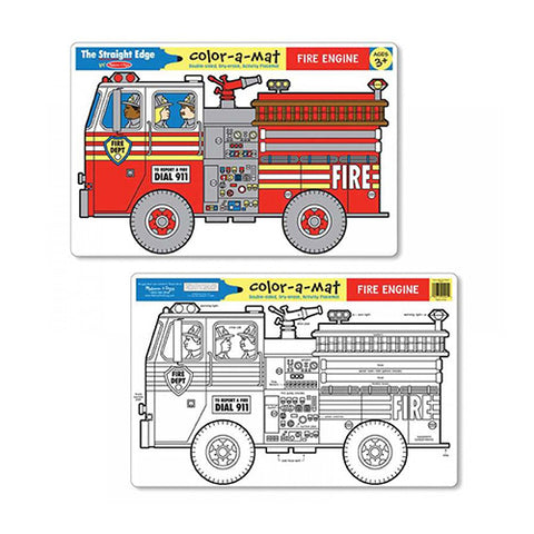 Fire engine placemat for kids by Melissa and Doug.