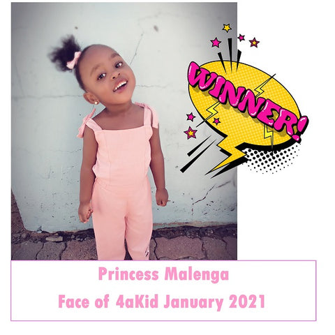 Winner of Face of 4aKid January 2021